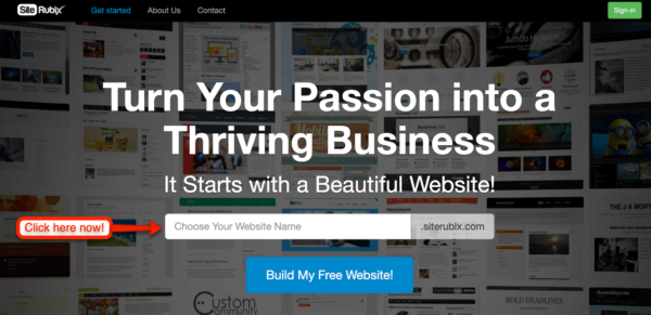 Build Your FREE Website Here Now