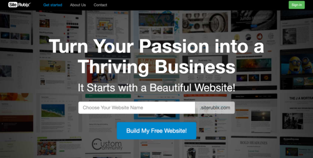 Click Here to Create Your Own Website in 60 Seconds or Less