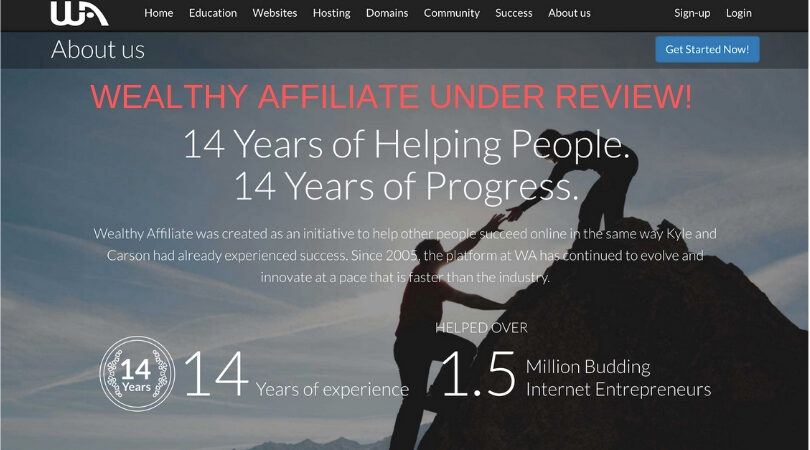 Wealthy Affiliate Is Under Review