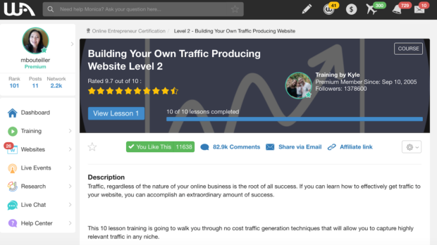 Lesson - Building Your Own Traffic Producing Website