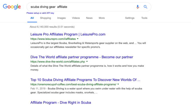 Sample Of Affiliate Programs For Scuba Diving Gear