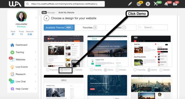 Step 4 Choose a Design Theme For Your Website
