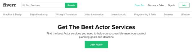 Fiverr Get the best actor services