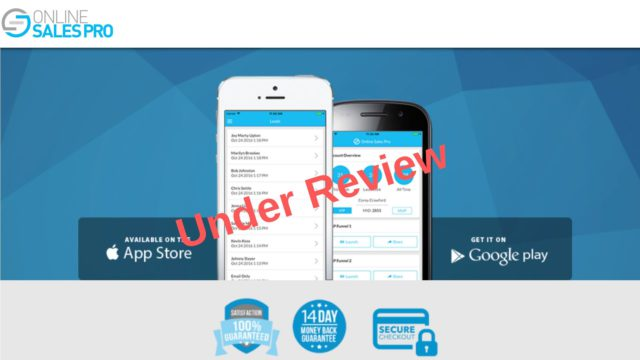Online Sales Pro Is Under Review