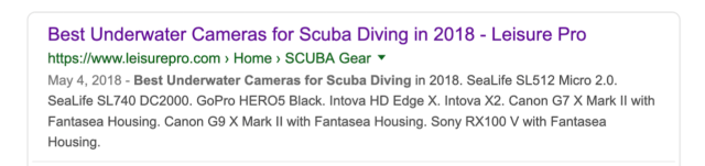 Review on Best Underwater Cameras for Scuba Diving in Google Search Engine