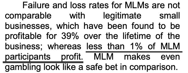 FTC says less than 1 percent of MLM participants profit