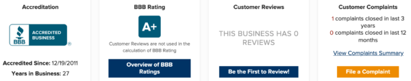 BBB gives USANA rating of A Plus