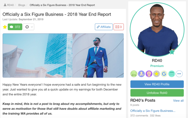 Ralph has officially a six figure business 2018 year end report