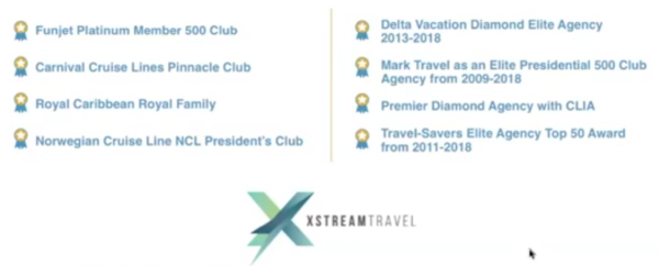 Top Winning Awards to Xstream Travel