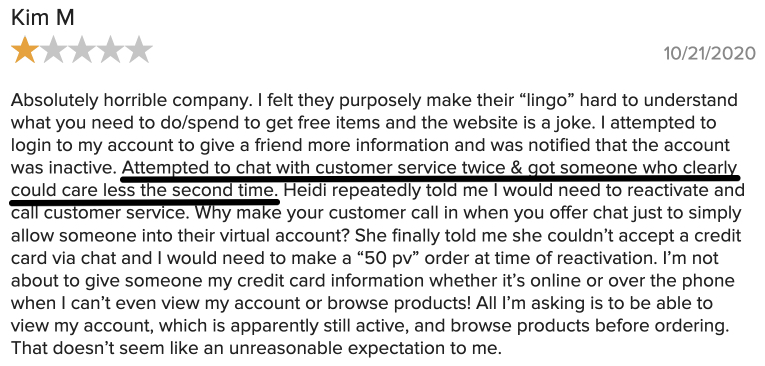 From BBB customer service didn't seem to care