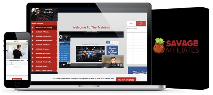 Savage Affiliates affiliate marketing training platform